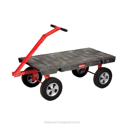 Rubbermaid FG447800BLA Truck, Platform (Magnified)