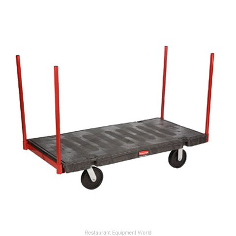 Rubbermaid FG448300BLA Truck, Platform (Magnified)