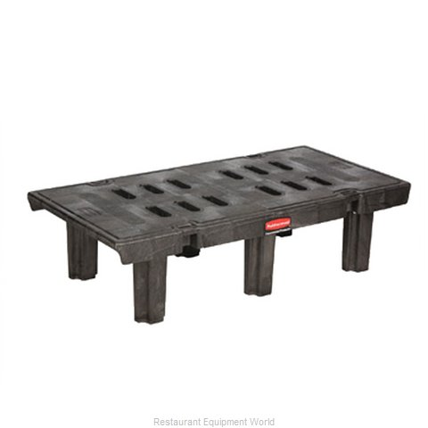 Rubbermaid FG449000BLA Dunnage Rack Louvered Slotted