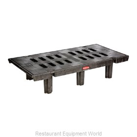 Rubbermaid FG449100BLA Dunnage Rack, Louvered Slotted