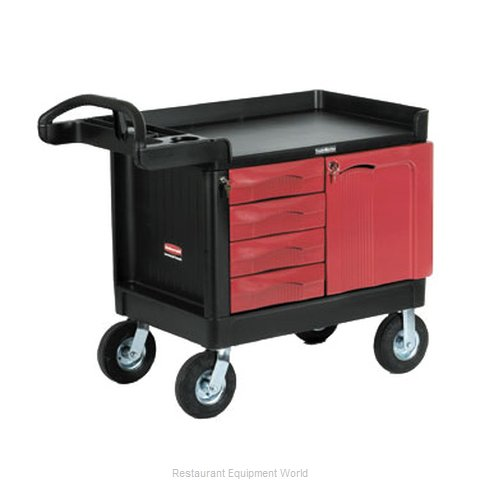 Rubbermaid FG453388BLA Cart, Maintenance (Magnified)