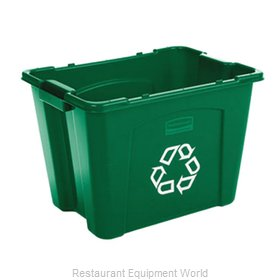 Rubbermaid FG571473GRN Recycling Receptacle / Container