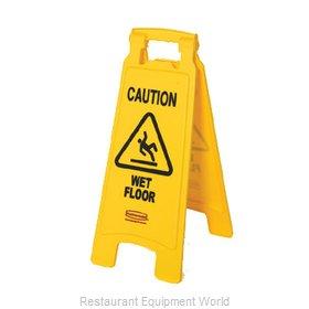 Rubbermaid FG611277YEL Sign, Wet Floor