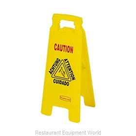 Rubbermaid FG611278YEL Sign, Wet Floor