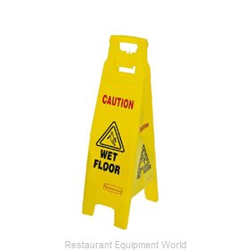 Rubbermaid FG611477YEL Sign, Wet Floor