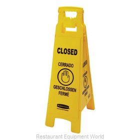 Rubbermaid FG611478YEL Sign, Wet Floor