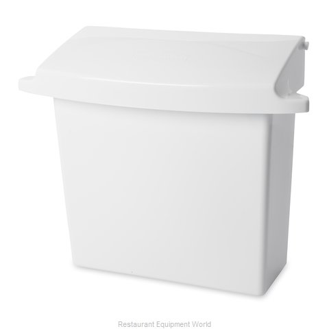 Rubbermaid FG614000WHT Sanitary Napkin Receptacle (Magnified)