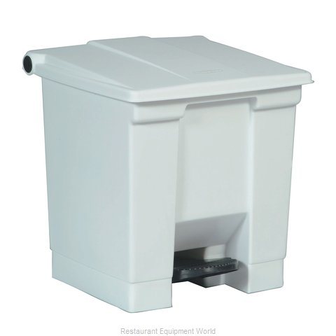 Rubbermaid FG614300WHT Trash Garbage Waste Container Stationary