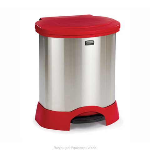 Rubbermaid FG614687RED Trash Garbage Waste Container Stationary
