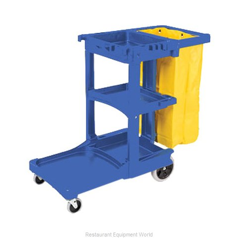 Rubbermaid FG617388BLUE Housekeeping Cart (Magnified)
