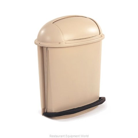 Rubbermaid FG617700BEIG Trash Garbage Waste Container Stationary