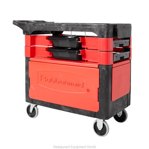 Rubbermaid FG618088BLA Utility Cart (Magnified)