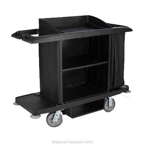Rubbermaid FG618900BLA Cart, Housekeeping (Magnified)