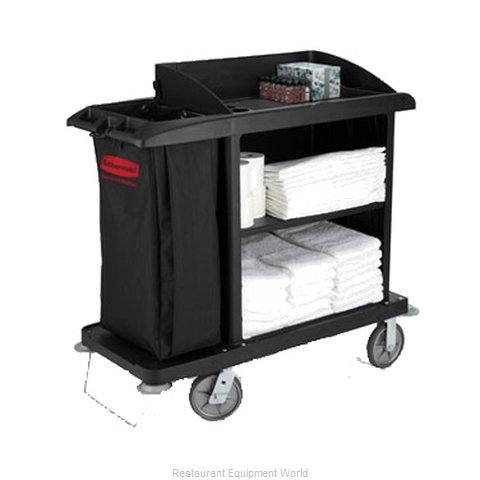 Rubbermaid FG619000BLA Housekeeping Cart