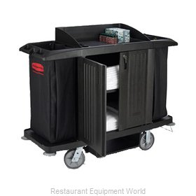 Rubbermaid FG619100BLA Cart, Housekeeping