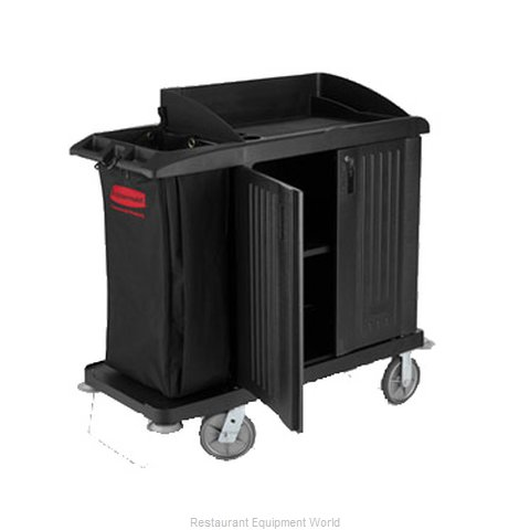 Rubbermaid FG619200BLA Housekeeping Cart