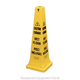 Rubbermaid FG627677YEL Sign, Wet Floor