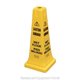 Rubbermaid FG627777YEL Sign, Wet Floor