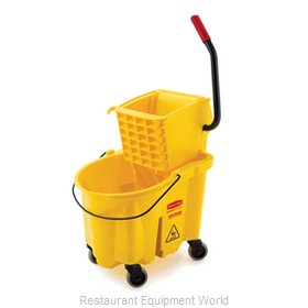 Rubbermaid FG748018YEL Mop Bucket Wringer Combination