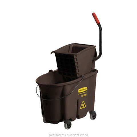 Rubbermaid FG758088BRN Mop Bucket Wringer Combination
