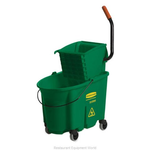 Rubbermaid FG758888GRN Mop Bucket Wringer Combination (Magnified)