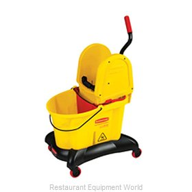 Rubbermaid FG767700YEL Mop Bucket Wringer Combination