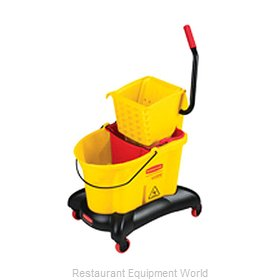 Rubbermaid FG768000YEL Mop Bucket Wringer Combination
