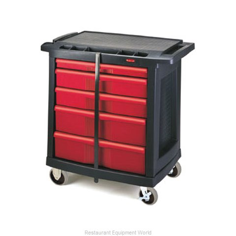 Rubbermaid FG773488BLA Cart, Maintenance (Magnified)