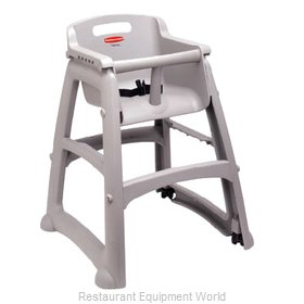 Rubbermaid FG781408PLAT High Chair, Plastic