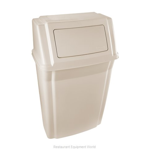 Rubbermaid FG782200BEIG Trash Garbage Waste Container Stationary