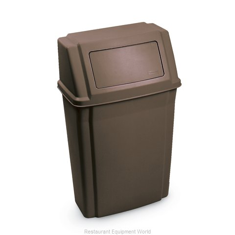 Rubbermaid FG782200BRN Trash Garbage Waste Container Stationary