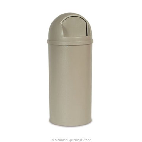 Rubbermaid FG816088BEIG Trash Receptacle, Indoor (Magnified)