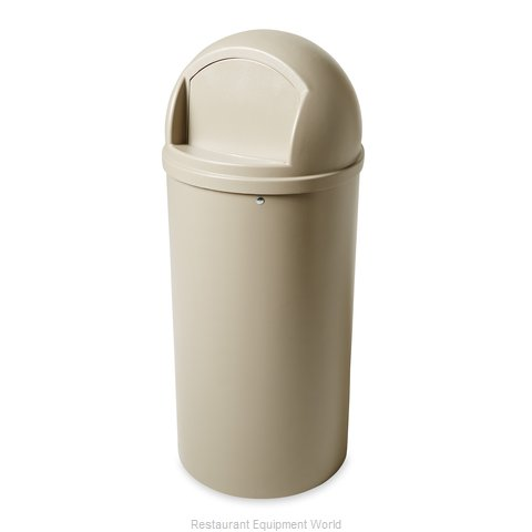 Rubbermaid FG817088BEIG Trash Garbage Waste Container Stationary