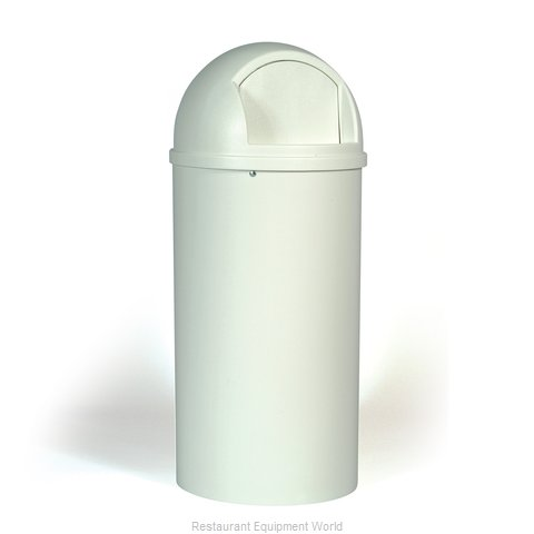 Rubbermaid FG817088OWHT Trash Garbage Waste Container Stationary