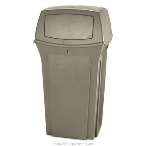 Rubbermaid FG843088BEIG Trash Receptacle, Outdoor/Indoor