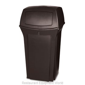 Rubbermaid FG843088BRN Trash Receptacle, Outdoor/Indoor
