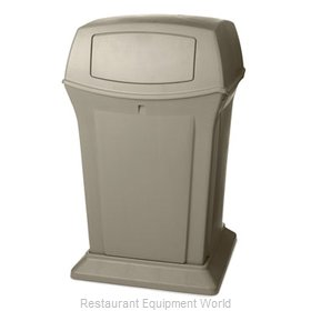 Rubbermaid FG917188BEIG Trash Receptacle, Outdoor/Indoor