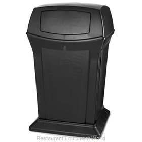 Rubbermaid FG917188BLA Trash Receptacle, Outdoor/Indoor