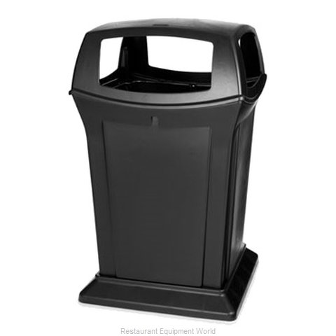 Rubbermaid FG917388BLA Trash Receptacle, Outdoor/Indoor