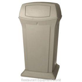 Rubbermaid FG917500BEIG Trash Receptacle, Outdoor/Indoor