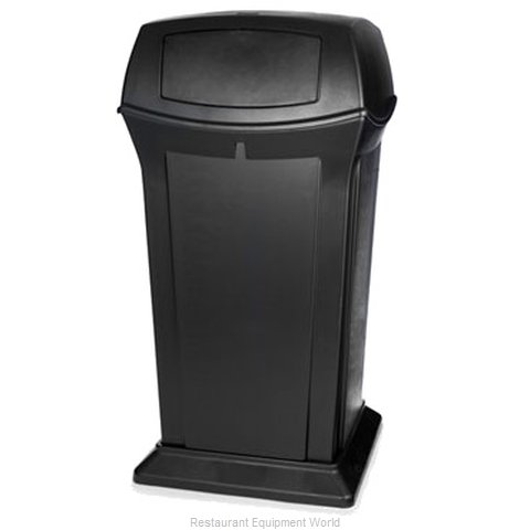 Rubbermaid FG917500BLA Waste Receptacle Outdoor (Magnified)