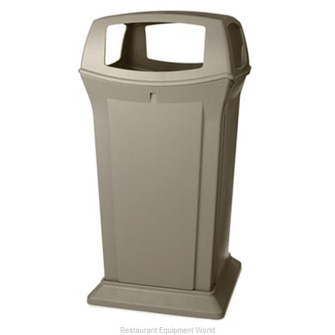 Rubbermaid FG917600BEIG Waste Receptacle Outdoor