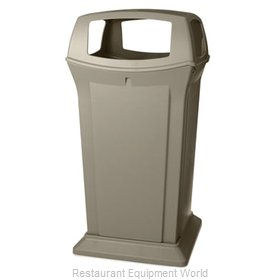Rubbermaid FG917600BEIG Trash Receptacle, Outdoor/Indoor