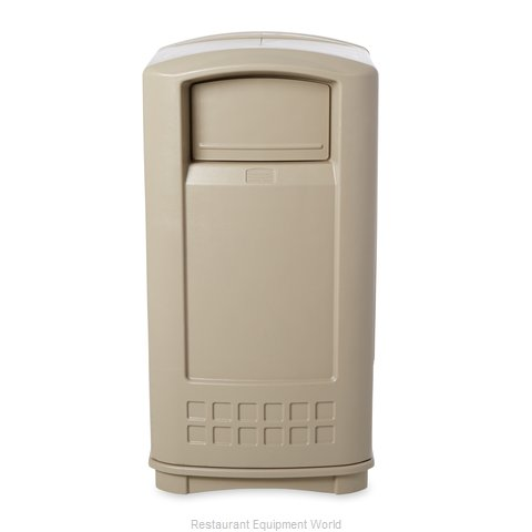 Rubbermaid FG9P9000BEIG Trash Receptacle, Indoor (Magnified)