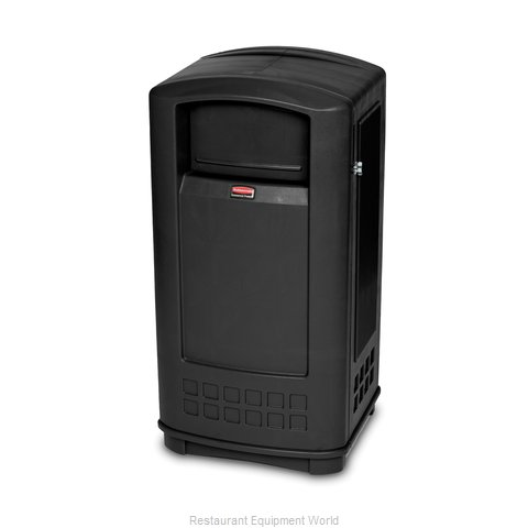 Rubbermaid FG9P9000BLA Trash Garbage Waste Container Stationary