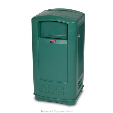 Rubbermaid FG9P9000DGRN Trash Garbage Waste Container Stationary