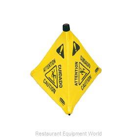 Rubbermaid FG9S0000YEL Sign, Wet Floor
