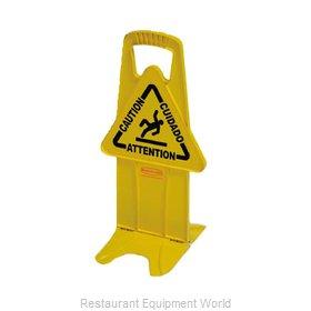 Rubbermaid FG9S09DPYEL Sign, Wet Floor
