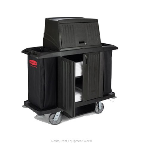 Rubbermaid FG9T1900BLA Cart, Housekeeping (Magnified)