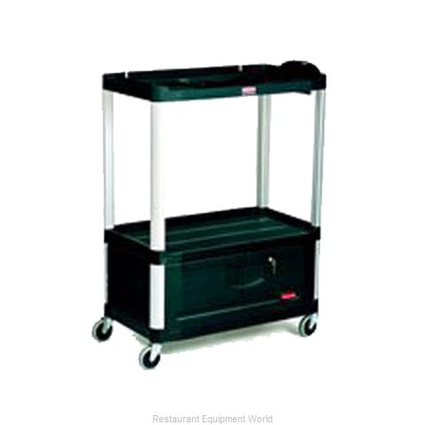 Rubbermaid FG9T3400BLA Utility Cart (Magnified)